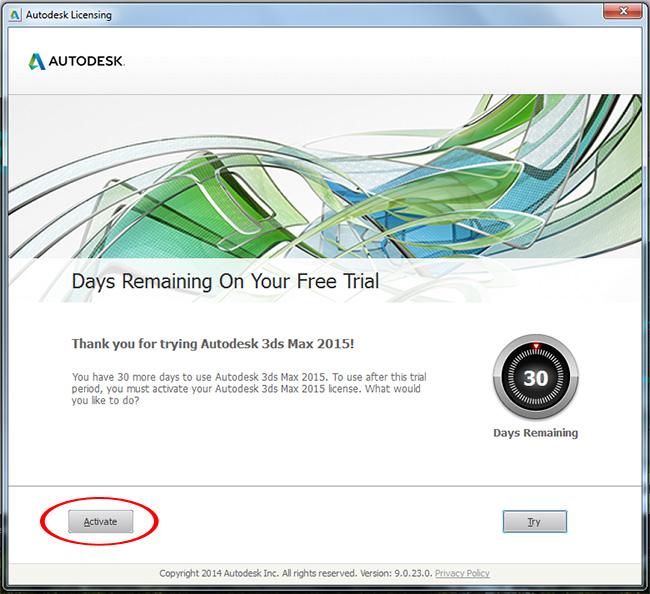 Lỗi kích hoạt giấy phép AutoCAD