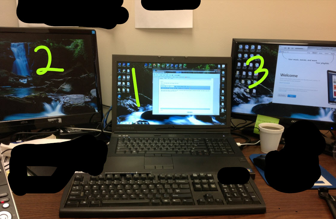 Precision M6600 - Use 2 monitors + Laptop monitor for 3 monitor setup -  Dell Community