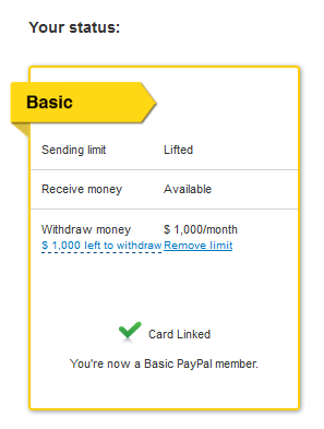 Solved: Spending limit for Unverified account  - PayPal Community