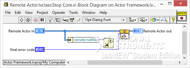 LabVIEW Actor Framework Stop Core