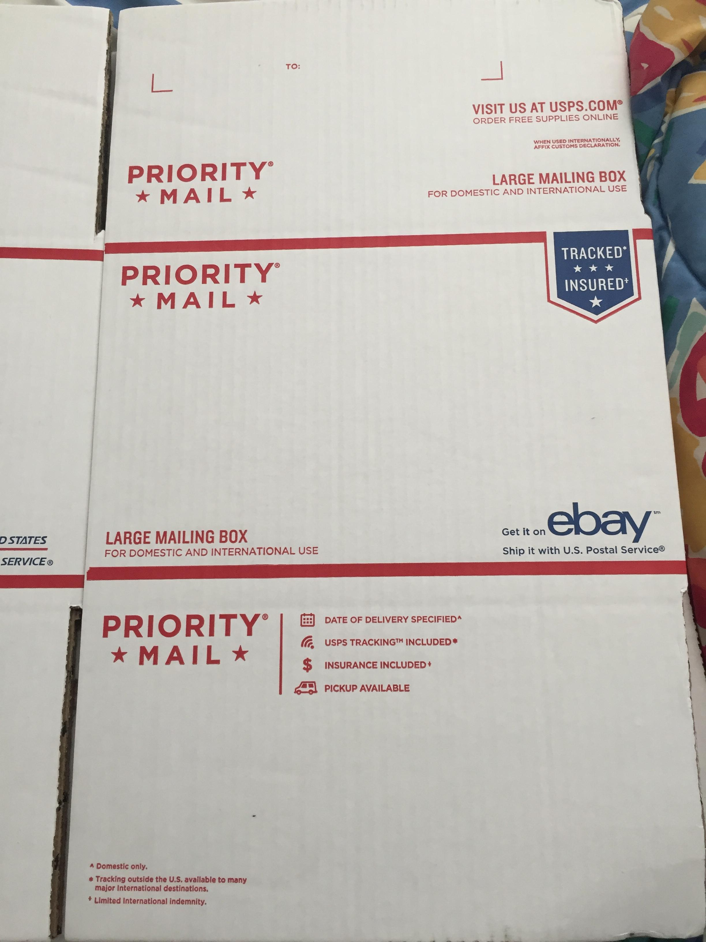 Solved: I have a Priority Mail Large Mailing Box, what typ