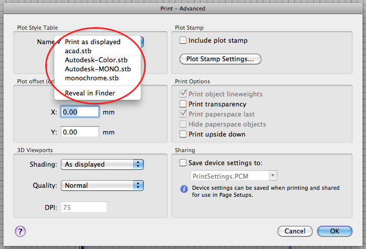 how to change plot style in autocad