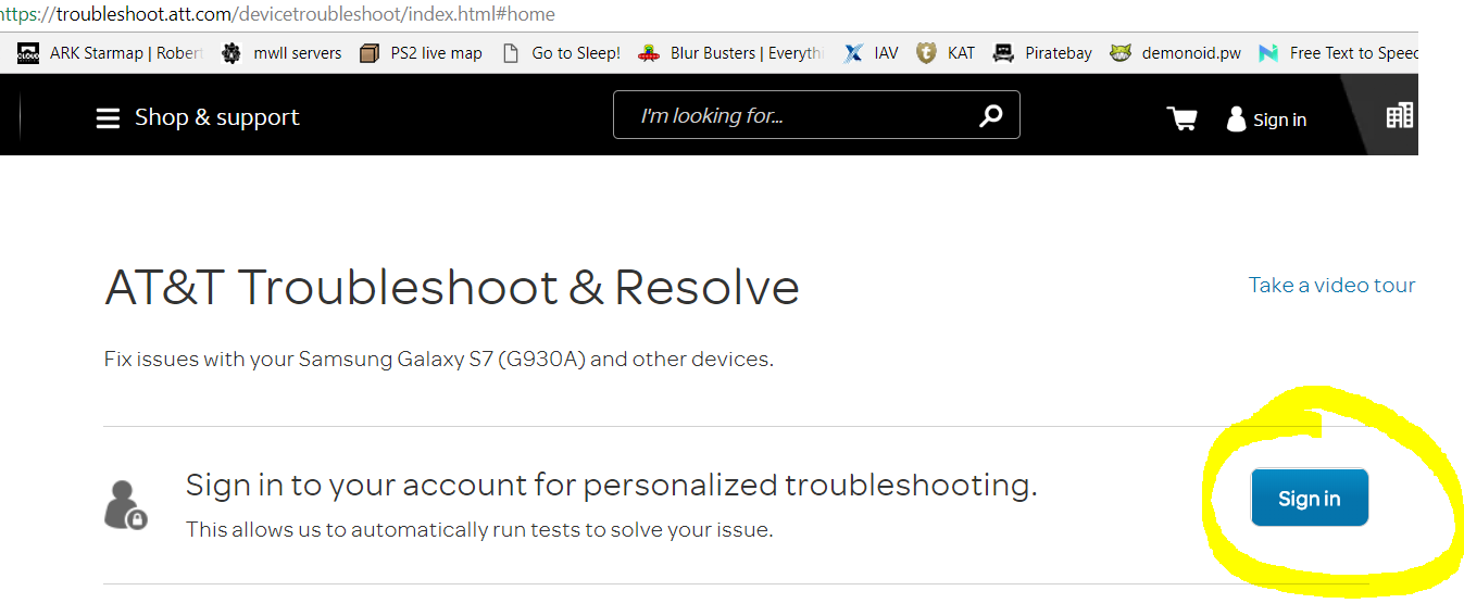 Logging Into Troubleshoot Att Com Does Not Work N At T Community