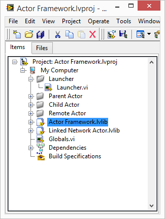 LabVIEW Actor Framework Linked Network Actor.lvlib
