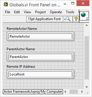 Actor Framework LNA names