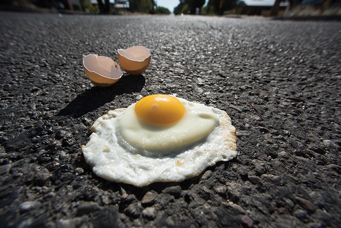 Image result for fried egg on sidewalk