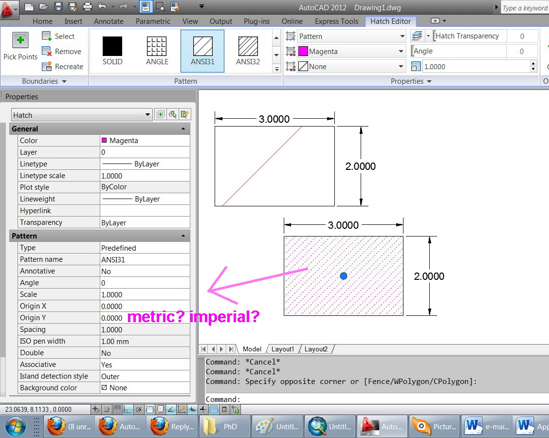how to add autocad hatch
