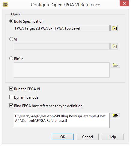 myRIO SPI Configure FPGA VI Reference