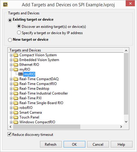 myRIO SPI Add new FPGA target 2