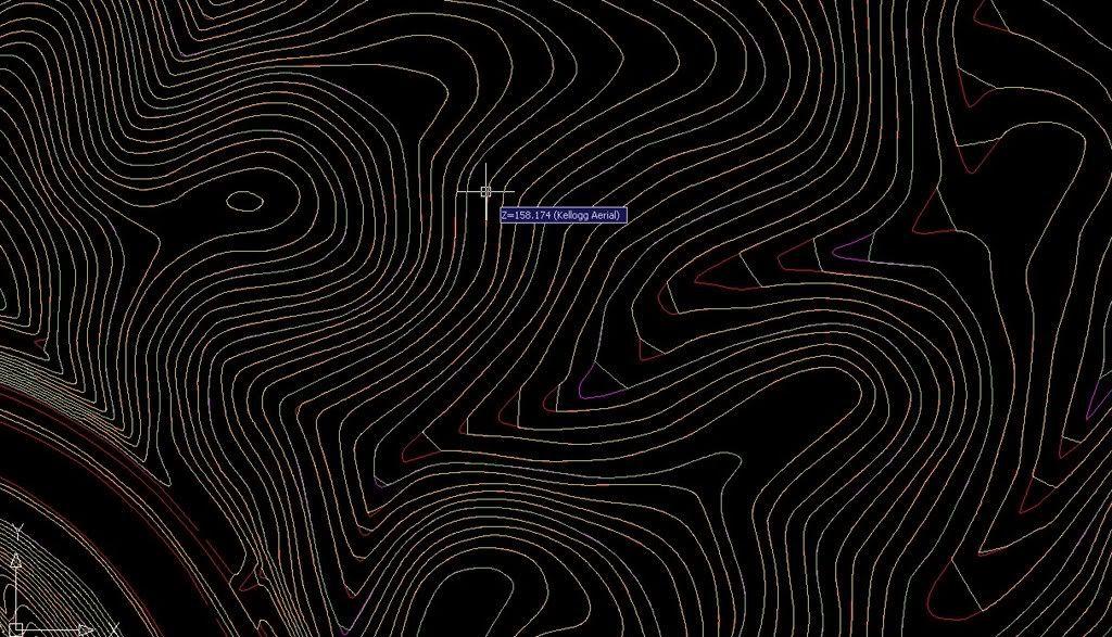 Contour Line Drawing In Autocad : Contours from contour lines autodesk community civil d