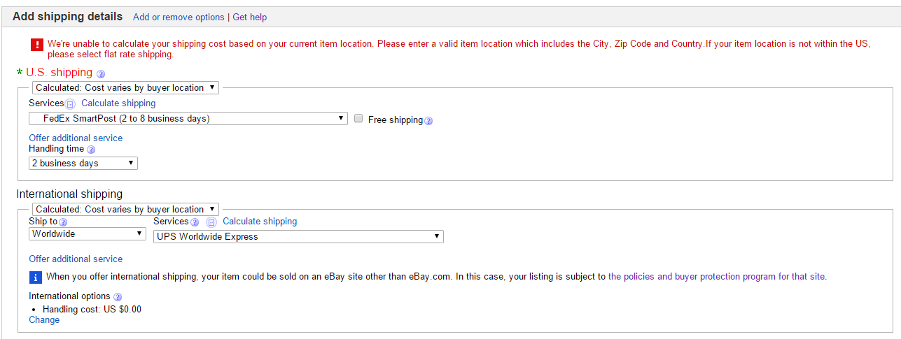 How Can I Set Shipping Price For Each Country Diff The Ebay Community