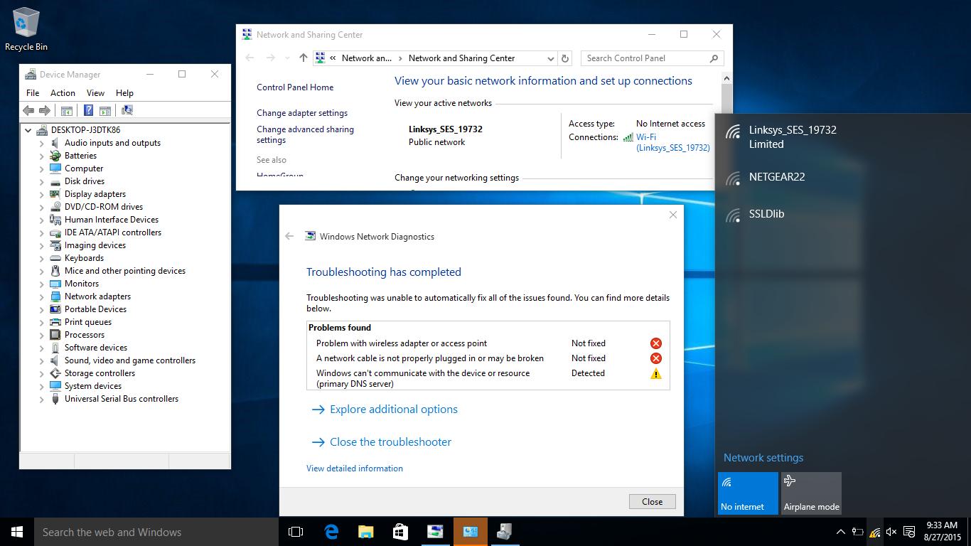 Limited Wifi Windows 10 Dell Wireless 1397 Wlan Mini Card Dell Community